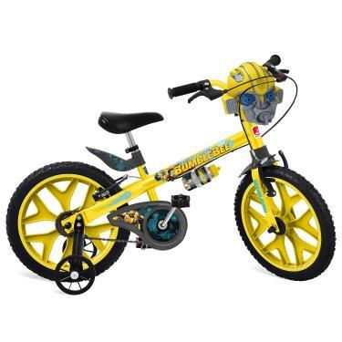 """Bicicleta Aro Transformers Bandeirante Amarelo 16"""""""