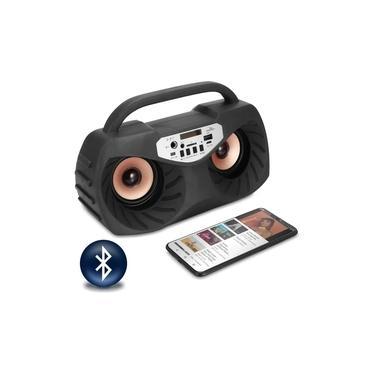Mini System Rádio FM Bluetooth USB Karaokê Com Microfone