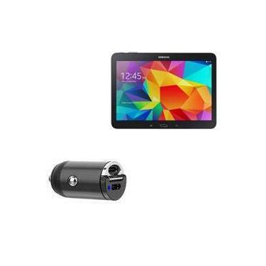 Carregador de carro BoxWave para Galaxy Tab S 10.5 [Mini carregador de carro duplo PD] rápido, 2 carregadores USB para Samsung Galaxy Tab S 10.5 – Preto