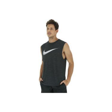 e9490e1eda ... Camiseta Regata Nike Breathe Tank Muscle - Masculina - PRETO CINZA  CLARO Nike c44b29ee098e64 ...