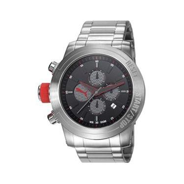481006100f2 Relógio masculino prateado Puma ultrasize 96241G0PMNA1