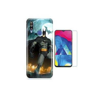 Kit Capa Galaxy M30 Batman + Pel Vidro B1