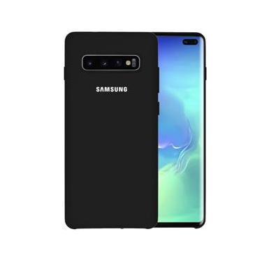 Capa Samsung Galaxy S10 Plus Tela 6,4 Silicone Cover Anti Impacto Preto