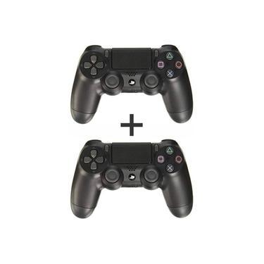 Combo 2 Controles sem Fio Dualshock 4 Sony PS4 - Preto