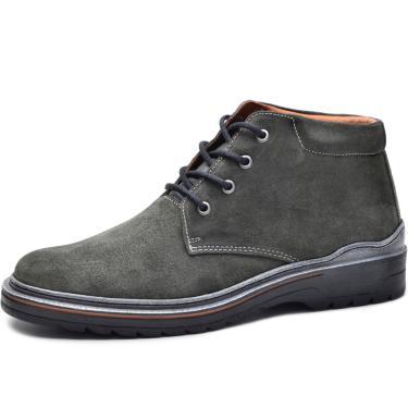 Bota Worker Over Boots Couro Camurça Cinza Urban  masculino