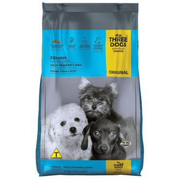 Alimento Three Dogs Original Filhotes Mini 1Kg - Hercosul
