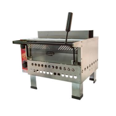 Forno pizza industrial a gás pedra refratária com infravermelho