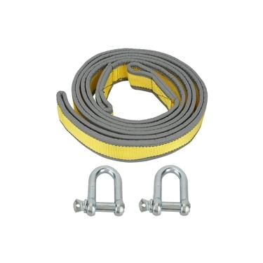 8 Tons High Strength Car Trailer Towing Rope Recovery Tow Strap with U-shape