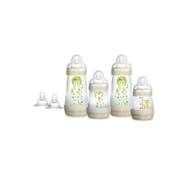 Imagem de Kit Mamadeira MAM Easy Start First Bottle Anti-Cólica e Auto-Esterilizáveis Bege Neutral