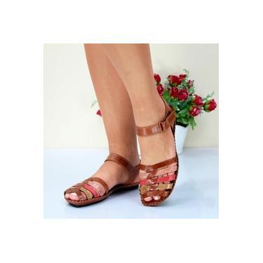 Sandalia Rasteira Andacco Rust/Rust/Rose/Vermelho/Nude Feminino 12273