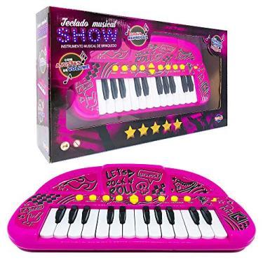 Teclado Infantil Musical Presente Menina 4 a 6 Anos + Brinde