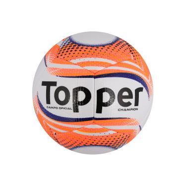 Bola de Futebol de Campo Topper Champion II - Branco Coral Topper e270b23241230