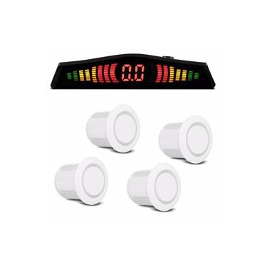 Sensor de Estacionamento Multilaser 18,5MM 4 Pontos Branco AU017