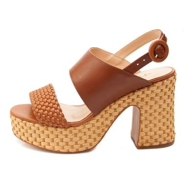 Sandália Plataforma Ferrucci Caramelo  feminino