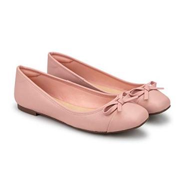 Sapatilha Napa Pele Candy Pink Bico Quadrado 35