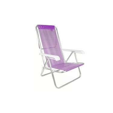 Cadeira Reclinável Alumínio 8 Posições Praia Piscina Sannet Mor