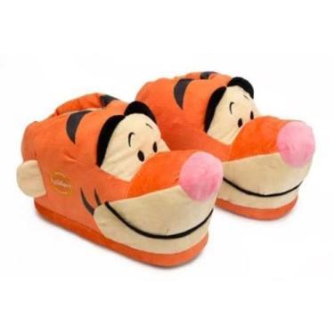 Pantufa 3D Disney Tigrão Tam 28/30 Unissex Ricsen  119140