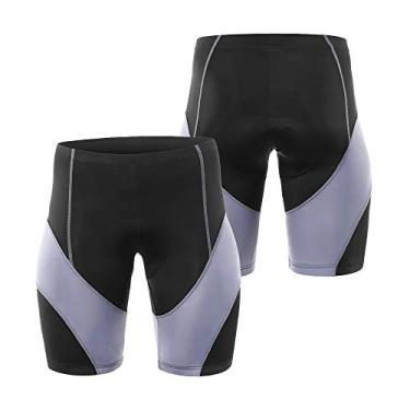 Shorts de ciclismo, Andoer Shorts acolchoados de ciclismo masculino para ciclismo de estrada para mountain bike Shorts para mountain bike