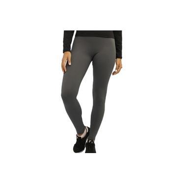 Calça Legging Feminina Esportiva Proteção Solar UV 50 Treino Cinza