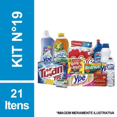 Cesta Básica De Higiene E Limpeza C/ 21 Itens