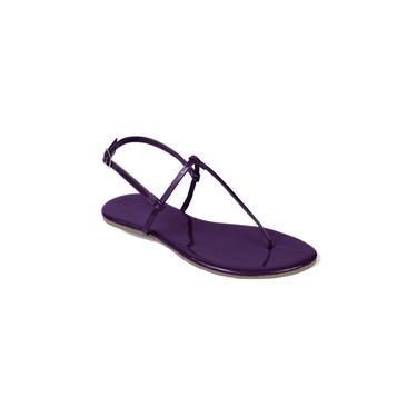 Sandália Casual Flat Mercedita Shoes Verniz Uva