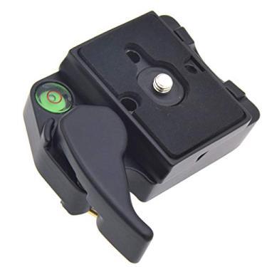 Imagem de Baosity Placa de liberação rápida para câmera 323 com adaptador 200PL-14 compatível com monopé de tripé Manfrotto