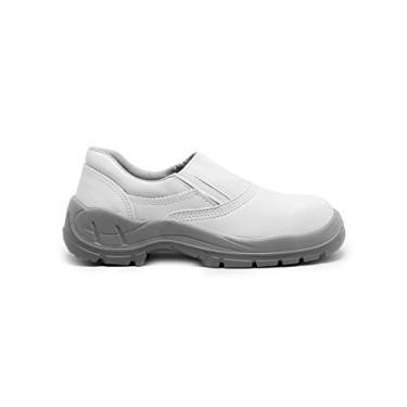 Imagem de Sapato De Segurança Bse Branco C/Elástico Bico Pvc - Bracol Tamanho:43;Cor:Branco