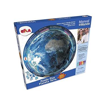 Imagem de Puzzle Play Planeta Terra 214 peças - Manual do Mundo, Elka, Colorido