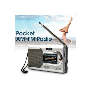 Rádio Portátil Bolso Tamanho am / fm Recarregável Antena Mini Mundo Receptor dc 3V