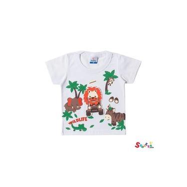 Camiseta Infantil Masculina Manga Curta Safari
