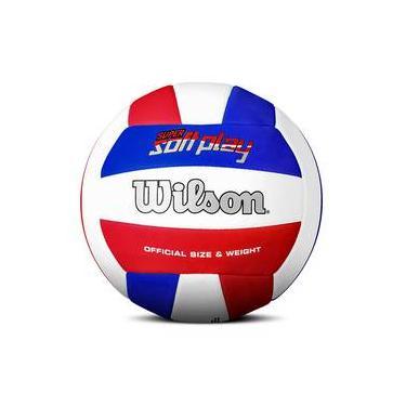02a9ab4fd9651 Bola de Vôlei Wilson Super Soft Play Azul Vermelho e Branco