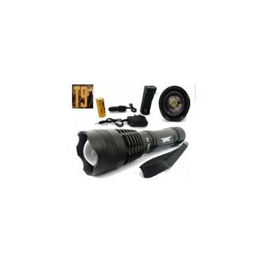 Lanterna Tática Militar Jy8875 Super Led T9 + Forte Que X900