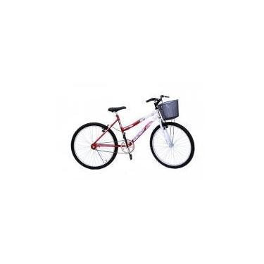 Bicicleta aro 26 wendy fem s/marcha convencional cor vermelho -