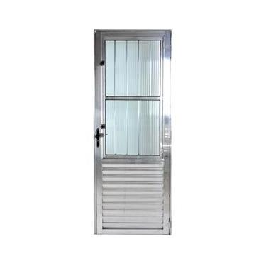 Porta De Alumínio Social Postigo 2,10 X 0,80 Direita Linha All Modular Cor Brilhante