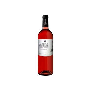Vinho Rosé Família Cecchin Malbec Rosado Orgânico Mendoza Argentina 750ml