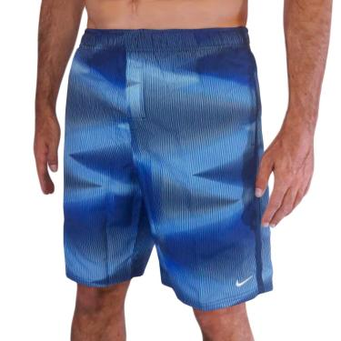 Bermuda 9-Inch Swim Volley Shorts Estampada Nike Homens GG Azul