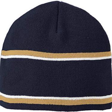 Holloway Gorro Engager Sportswear OS azul marinho/Vegas ouro/branco