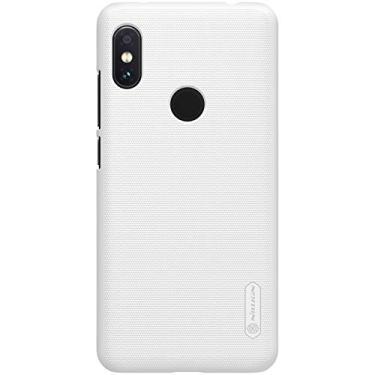 Capa Protetora para Redmi Note 6 Pro, Nillkin Super Frosted [RÍGIDA][FOSCA][FINA], Xiaomi Redmi Note 6 Pro (Branco)