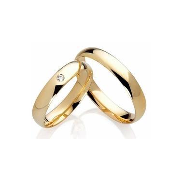 Imagem de Par de Alianças Ouro 18k 3mm com Diamante