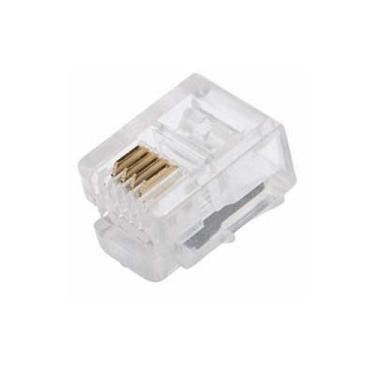 Plug Conector Modular Rj11 6p4c Telefonia (pacote 100 Peças)