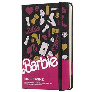 Caderno Barbie, Moleskine, Sem Pauta, Preto, Tamanho de Bolso