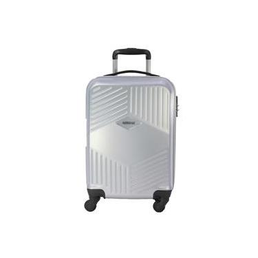 Mala de Bordo American Tourister Trillion com Rodas Giro 360° em ABS - Prata - By Samsonite