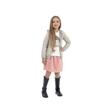 Jaqueta infantil em microfibra, Quimby, Meninas, Gelo Rainy Day, 8
