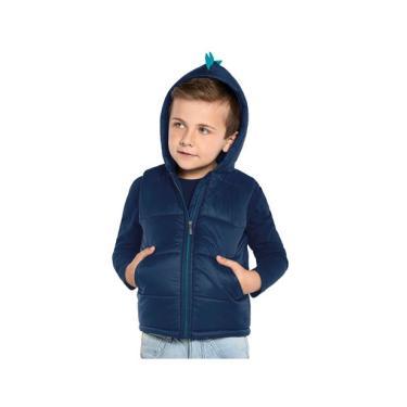 Colete Infantil Microfibra com Capuz Trick Nick Azul Trick Nick