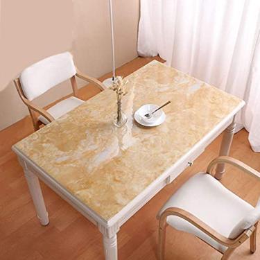 Imagem de Toalha de mesa quadrada 80x80cm, toalha de mesa de vinil retângulo com fundo de flanela, protetor transparente de capa de mesa, para mesa, café, chá, decoração, tapete de mesa à prova de óle