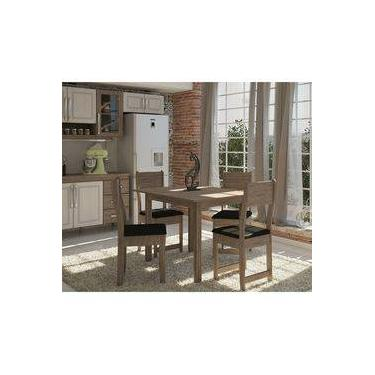 fce9c6868 Conjunto Mesa De Jantar Dallas Com 4 Cadeiras Em Mdp Indekes