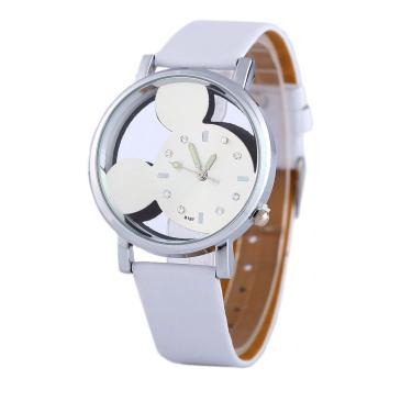 8b136b55515 Relógio Feminino De Pulso Mickey Mouse Transparente - Branco