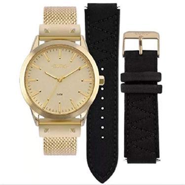 b6476cf1105 Relógio Feminino Euro Analógico Troca Pulseiras Eu2035Yok 4D Dourado