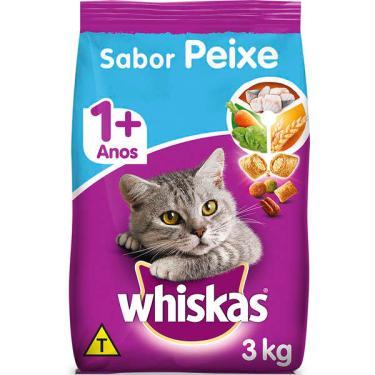 Ração Whiskas Peixe para Gatos Adultos - 3 Kg