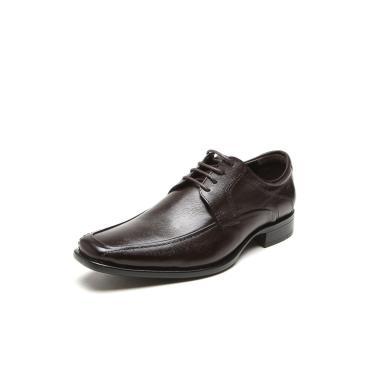 Sapato Social Couro Democrata Hampton Marrom Democrata 430025-002 masculino
